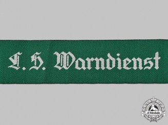 Germany, Third Reich. An Air Raid Warning Service Cuff Title