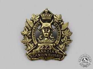 "Canada, CEF. A 223rd Infantry Battalion ""Canadian Scandinavians"" Cap Badge"