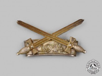 """Germany, Saxe-Coburg and Gotha, Duchy. A Saxe-Ernestine House Order, """"1914"""" with Swords Clasp for the Type IV Merit Medal (1914-1935)"""