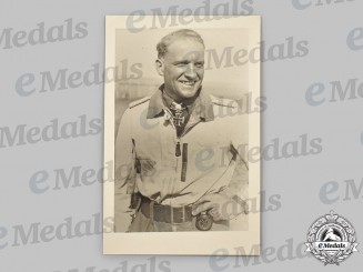 Germany, Luftwaffe. A Mint and Unused Hans-Ulrich Rudel Postcard
