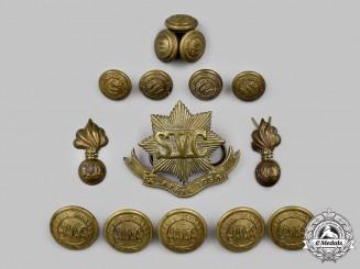 China, Imperial, Republic. Fifteen Rare Shanghai Volunteer Corps Uniform Insignia