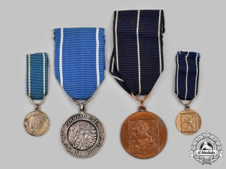 Finland, Republic. Two Medals with Miniatures