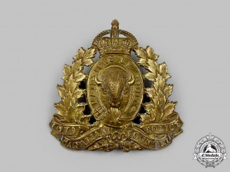 Canada, Commonwealth. A Royal Canadian Mounted Police (RCMP) Cap Badge with King's Crown