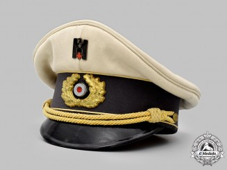 Germany, DRK. A German Red Cross High Official's Visor Cap, Attributed to Ernst-Robert Grawitz