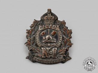 Canada, CEF. A No. 1 Canadian Overseas Battalion, Railway Construction Corps Officer's Cap Badge
