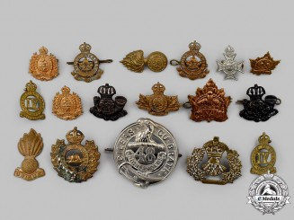 Canada, CEF. A Lot of Seventeen Pre-First War and First War Cap and Collar Badges