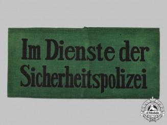 Germany, SS. A Sicherheitspolizei Civilian Auxiliary's Armband