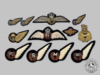 United Kingdom. A Lot of Twelve Royal Air Force (RAF) Badges