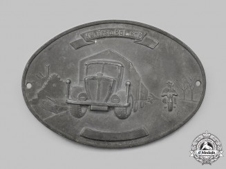 Germany, Wehrmacht. A Kraftwagen Transport-Regiment 616 Commemorative Plaque