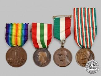 Italy, Kingdom. Four Medals & Awards