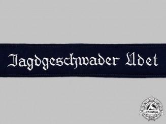 Germany, Luftwaffe. A Mint and Unissued Jagdgeschwader Udet EM/NCO's Cuff Title