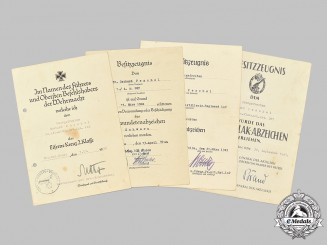 Germany, Heer. A Lot of Award Documents to Obergefreiter Gerhard Peschel, Army Flak Units
