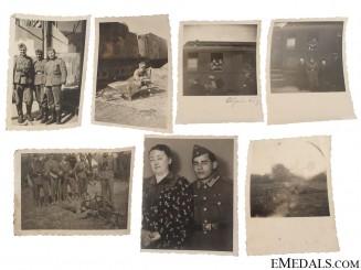 7 Photos, Croatian Legionaries (in German uniforms)