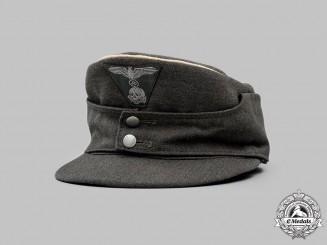 Germany, SS. A Waffen-SS Officer's M43 Field Cap, c. 1944