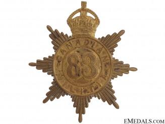 83rd Canadian Militia Helmet Plate