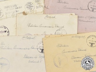 Germany, SS. A Lot of Feldpost Letters from SS-Mann Hans Naringbauer, 10th SS Panzer Division Frundsberg