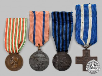 Italy, Kingdom. Four Campaign Medals & Awards