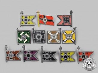 Germany, Third Reich. A Lot of Winterhilfswerk Wehrmacht Standard Donation Badges