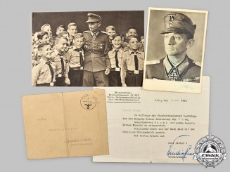Germany, Heer. A Wartime Signed Photo of Generaloberst Eduard Dietl, with Feldpost Letter to Recipient
