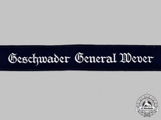 Germany, Luftwaffe. A Mint and Unissued Geschwader General Wever Cuff Title