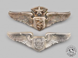 United States. Two United States Air Force (USAF) Badges