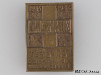 20th Anniversary of the Battle of Langemarck Tinnie, 1914-1934
