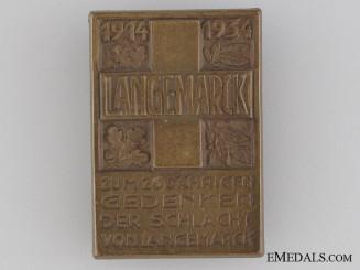 20th Anniversary of the Battle of Langemarck Tinnie, 1914-1934