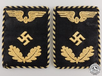 A Pair of Deutche Reichsbahn Official's Collar Tabs