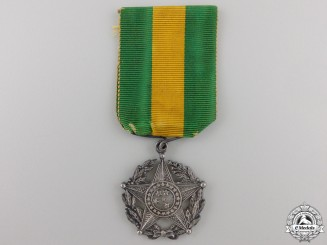 A Brazilian Military Long Service Medal; 2nd Class