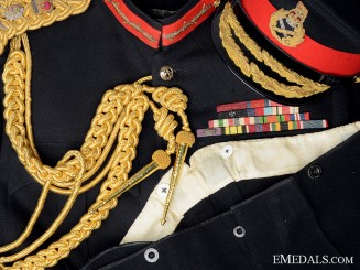A Coldstream Guards Full Dress General's Uniform
