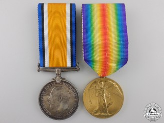 A First War Medal Pair to the 31st Canadian Battery; KIA on the Somme