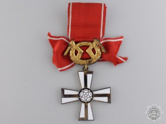 A Second War Order of the Cross of Liberty; Military Division 2nd Class