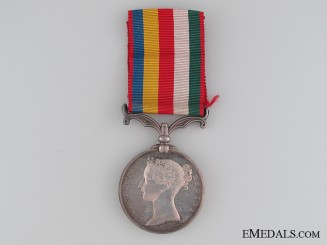 An 1861 Second China Medal; Un-named