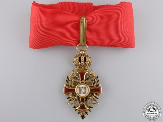 An Austrian Order of F. Joseph in Gold; Commander's Neck Cross