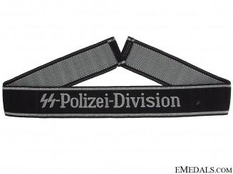 """BeVo""¢� Waffen SS Cufftitle ""SS-Polizei-Division"""