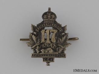 Canada. WWI 117th Infantry Battalion Collar Tab CEF