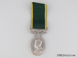Canadian Efficiency Medal, Regimental Quartermaster Sergeant (Warrant Officer 2nd Class) A.J. Hayhurst M.M.