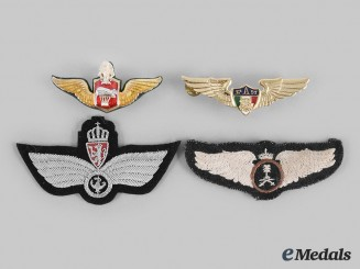 Mexico. Norway, Saudi Arabia, Thailand. A Lot of Four Air Force Badges