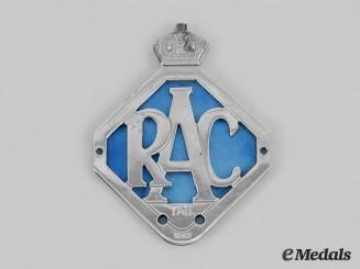 Australia, Commonwealth. Royal Automobile Club Tasmania Car Grille Badge c. 1949-1954