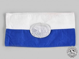 Germany, Weimar Republic. A Bavarian People's Party Bayernwacht Armband