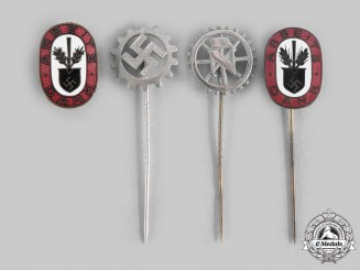 Germany, Third Reich. A Lot of Labour Organization Pins & Badges