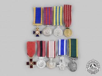 Canada, Commonwealth. A Lot of Nine Miniature Awards
