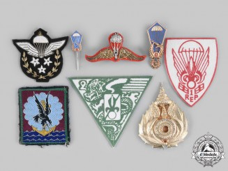 International. A Lot of Eight Parachutist Badges