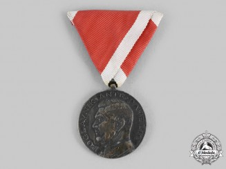 Croatia, Independent State. Ante Pavelić Bravery Medal, Silver Grade Medal