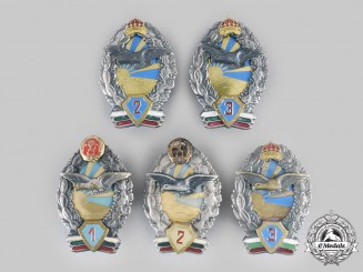 Bulgaria, Kingdom, People's Republic. A Lot of Five Air Force Pilot Badges