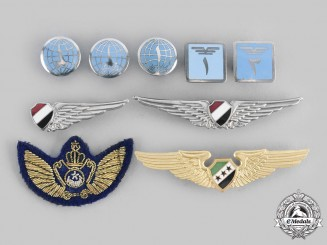 Egypt, Arab Republic; Syria, Arab Republic. A Lot of Nine Air Force Badges