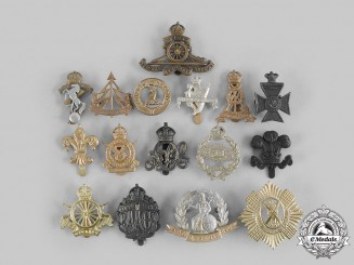 United Kingdom. A Lot of Sixteen Cap Badges