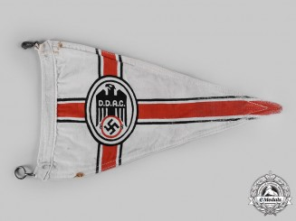 Germany, DDAC. A German Automobile Club Member's Vehicle Pennant