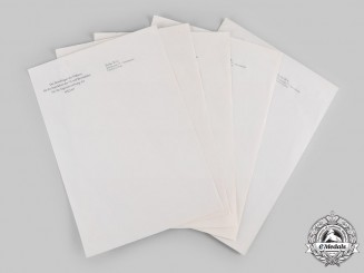 Germany, HJ. Five Unused Letterheads from the Office of Baldur von Schirach