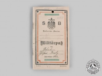 Germany, Imperial. The Military ID Booklet of German Defender of Tsingtao and POW in Japan